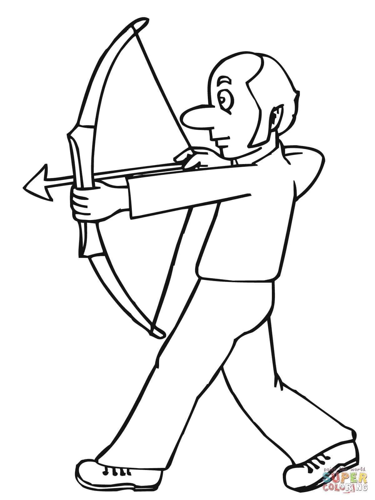 Funny Archer Coloring Page