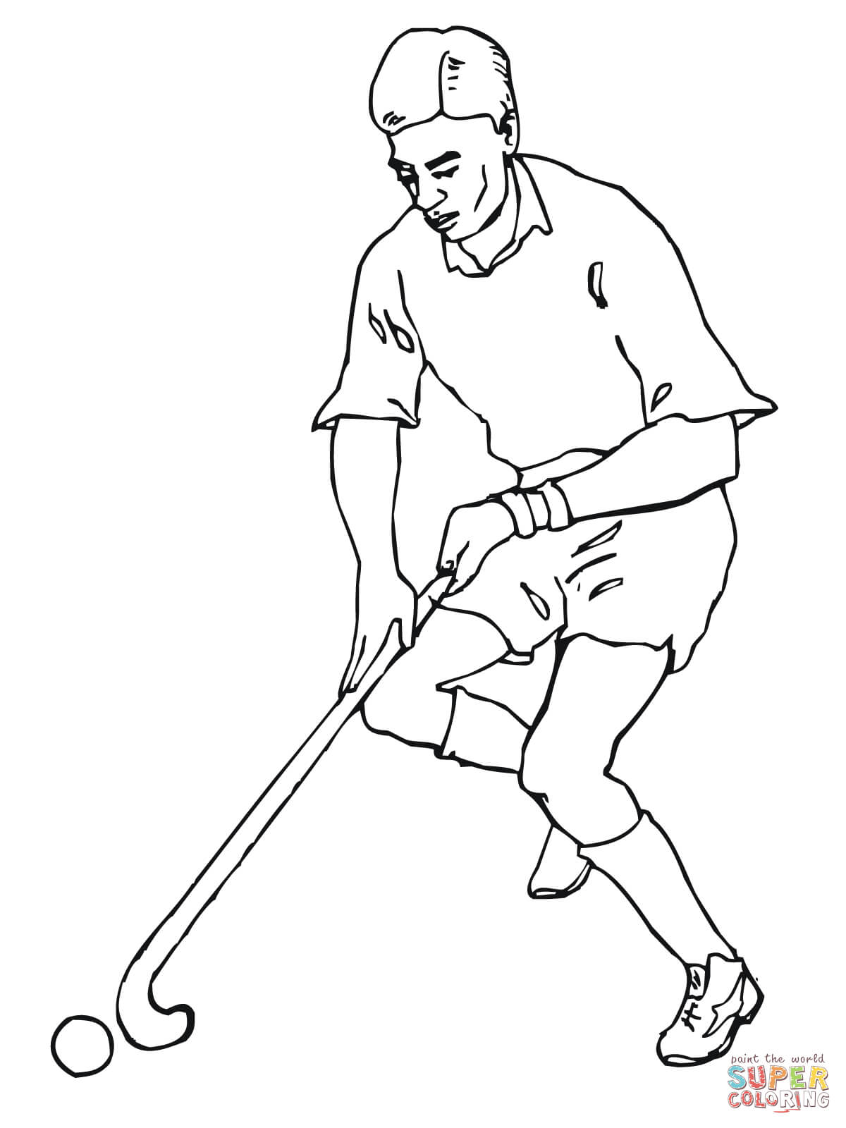 Disegno Di Giochiamo A Hockey Su Prato Da Colorare