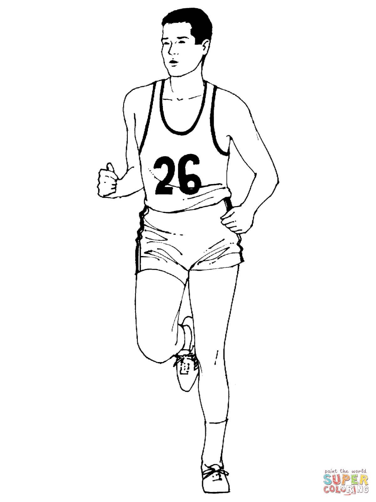 running a marathon coloring page supercoloring com