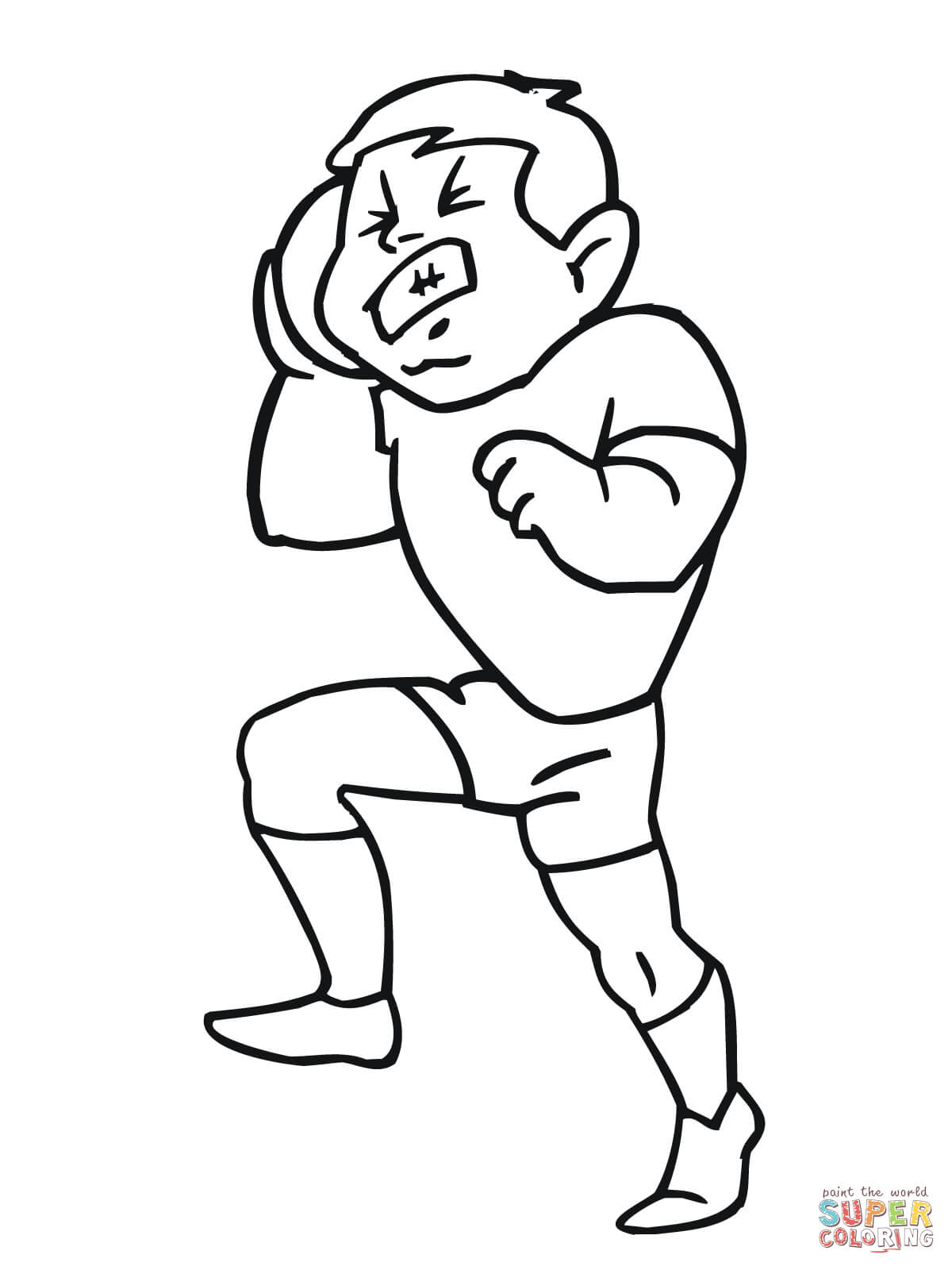Shot Put Coloring Page