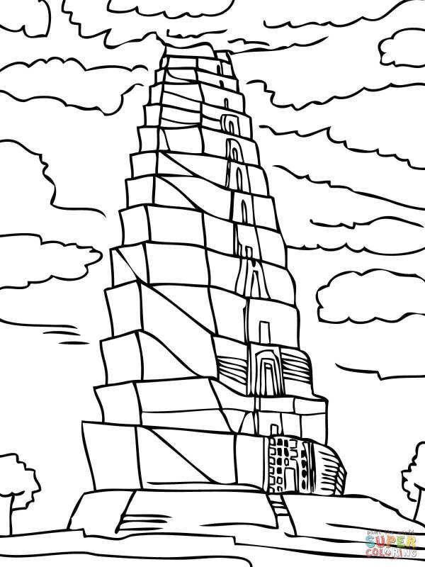 tower of babel coloring pages # 10