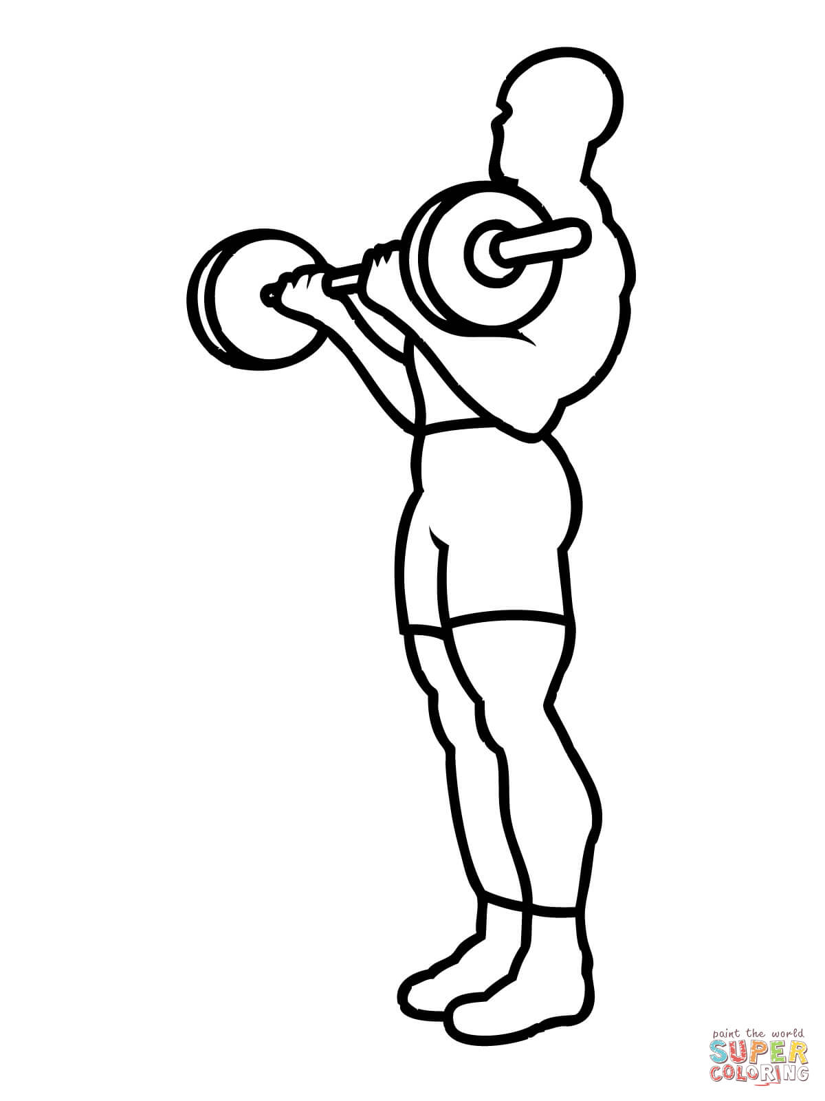 Weight Training Workout Coloring Page