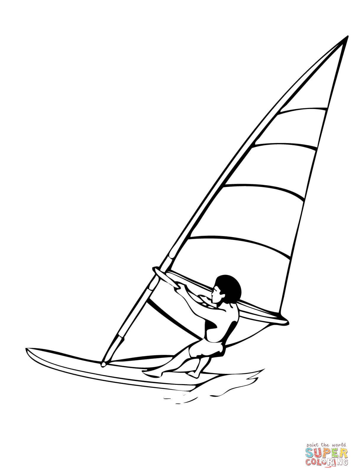 Windsurfing Coloring Page