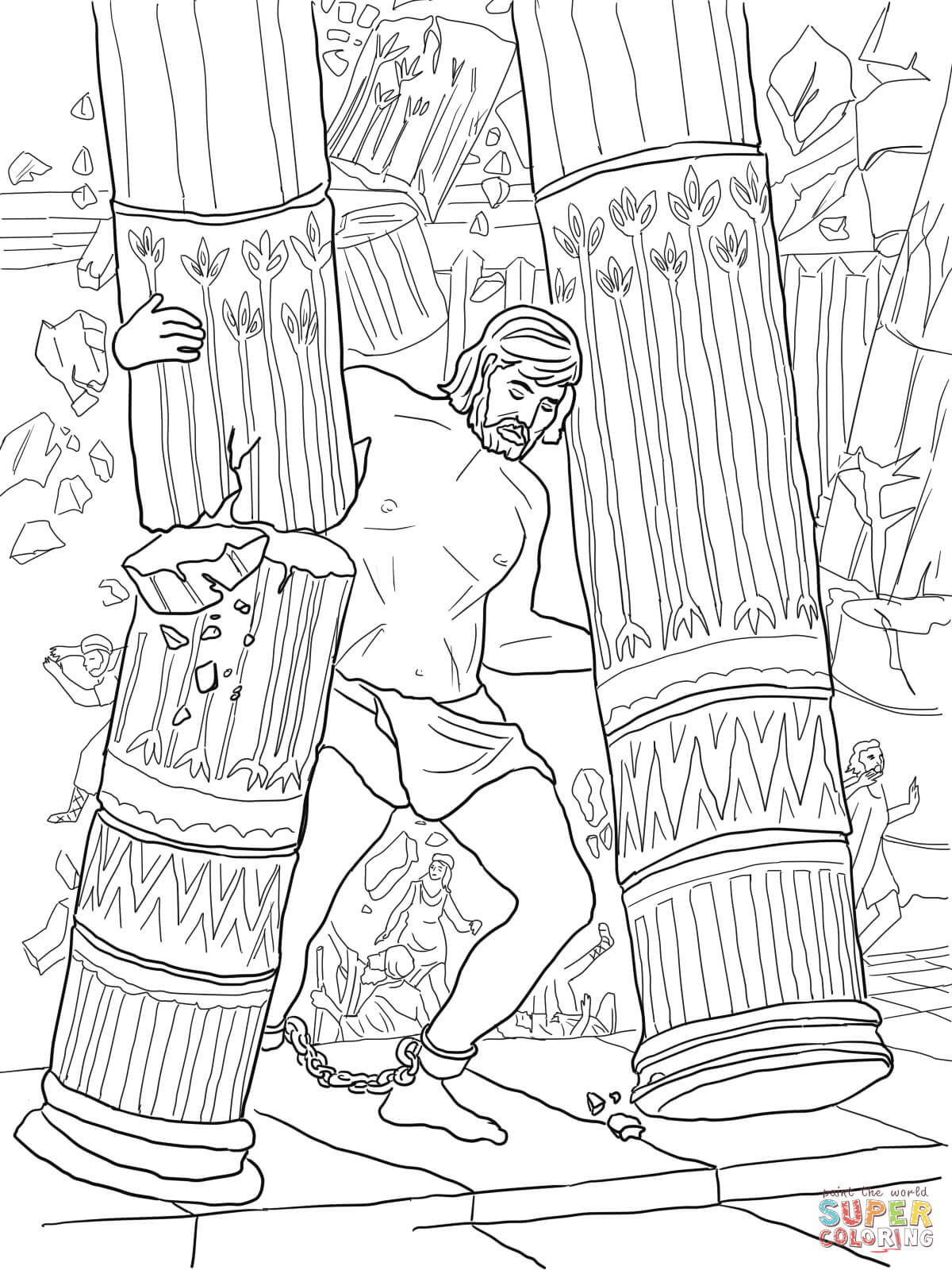 - Samson And Delilah Coloring Pages. Samson Coloring Page Free