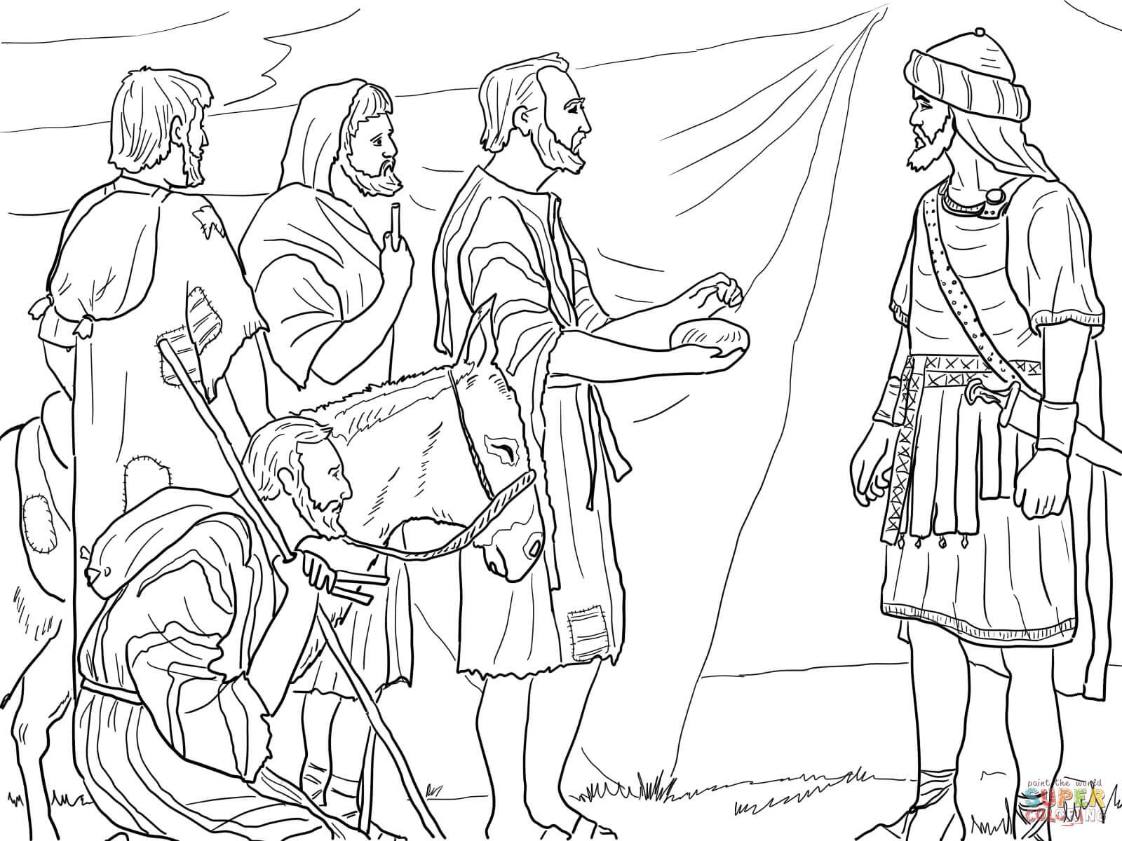 Gibeonites Trick Joshua Coloring Page