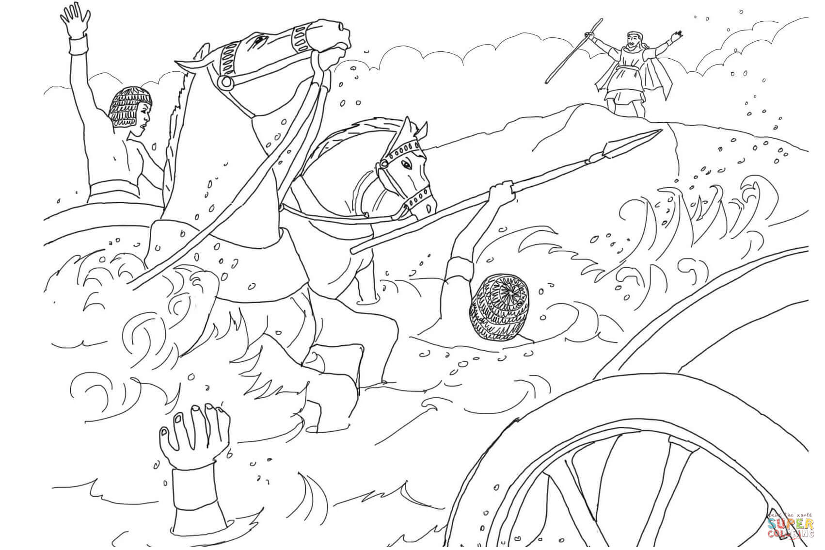 Pharaoh S Army Got Drowned Coloring Page