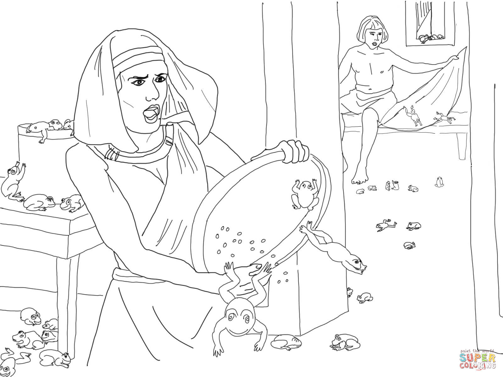 Plague Of Frogs Coloring Page