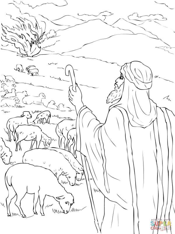 burning bush coloring page # 35