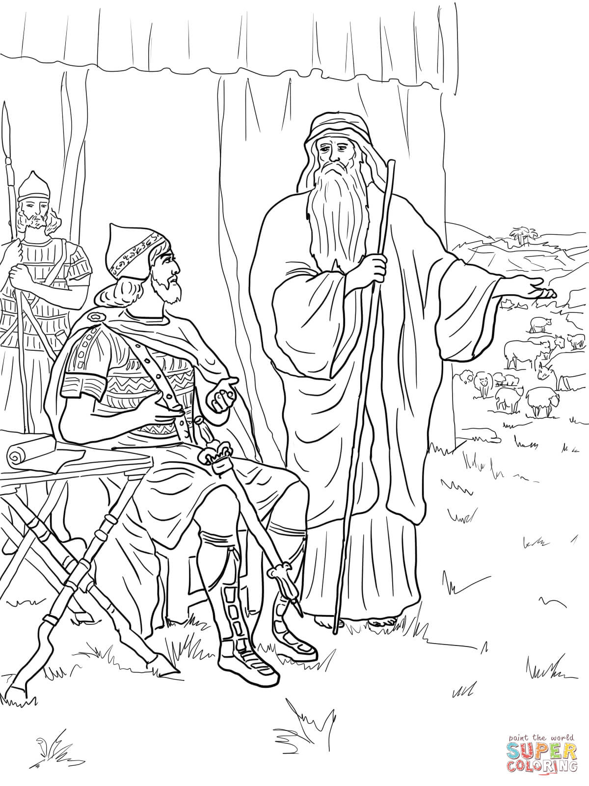 Saul Disobeys God Coloring Page