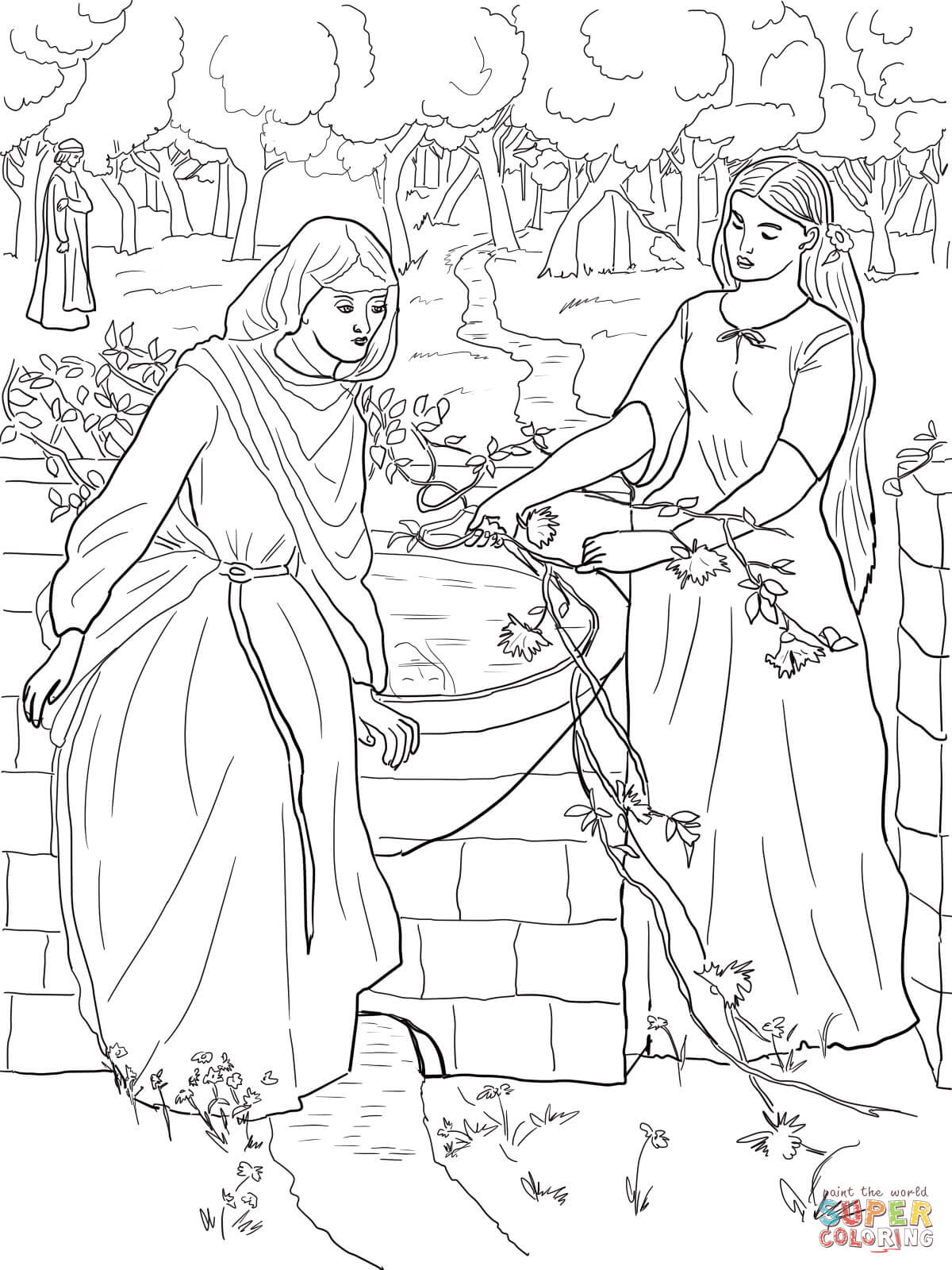 Jacob Meets Rachel Coloring Page Coloring Pages