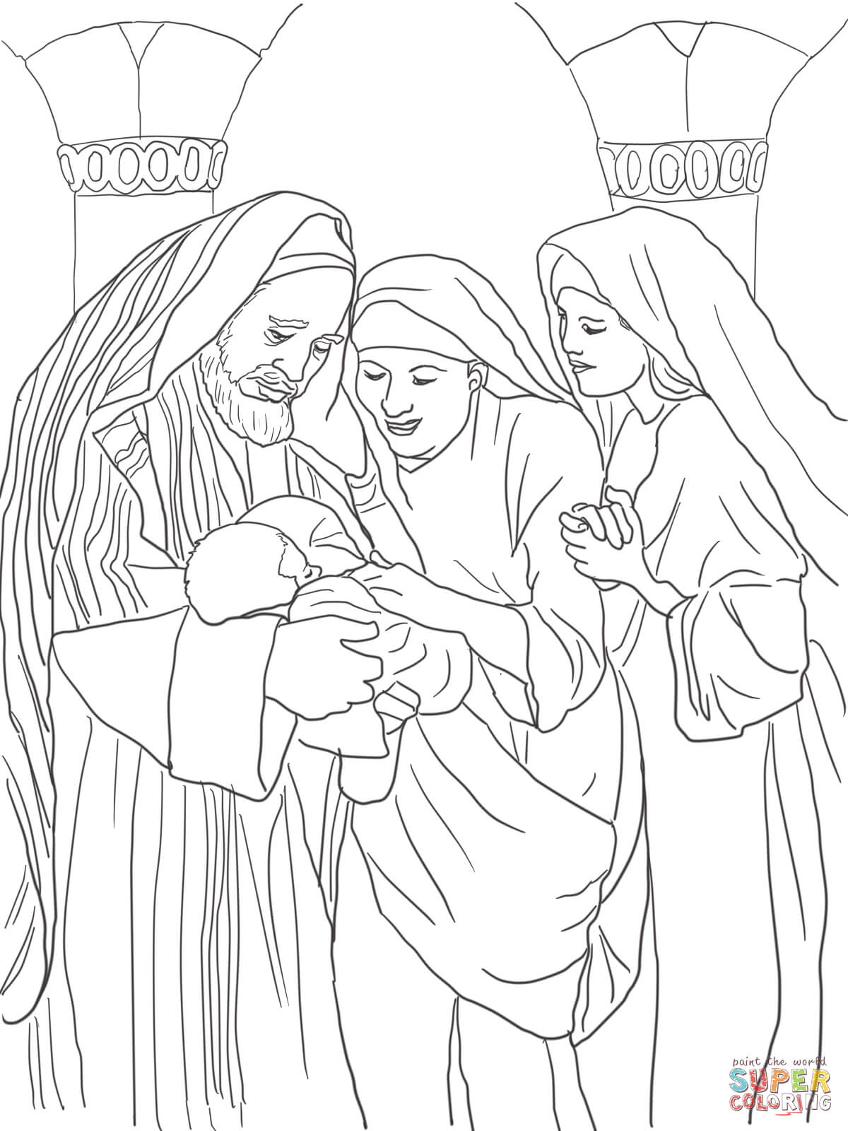 baby john the baptist coloring page free printable coloring pages