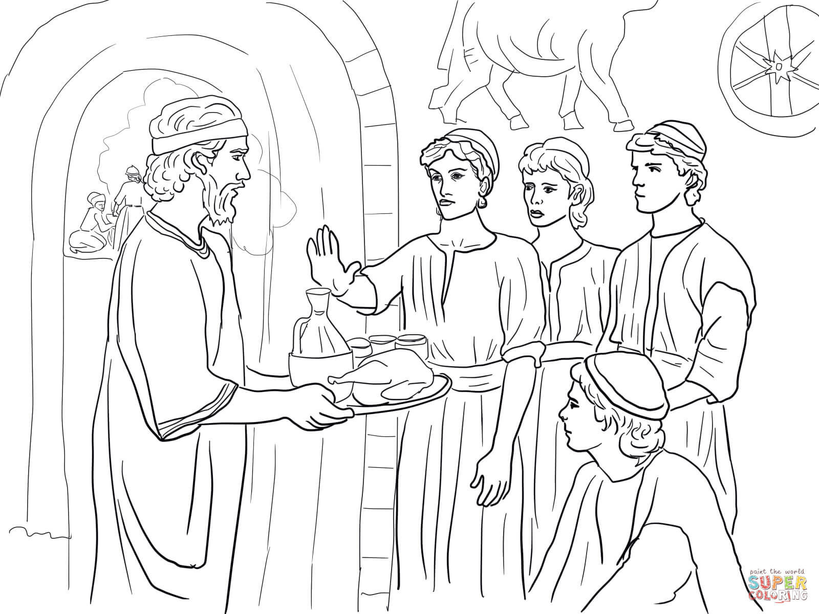 Daniel Makes Good Choices And Refuses King S Food Coloring Page