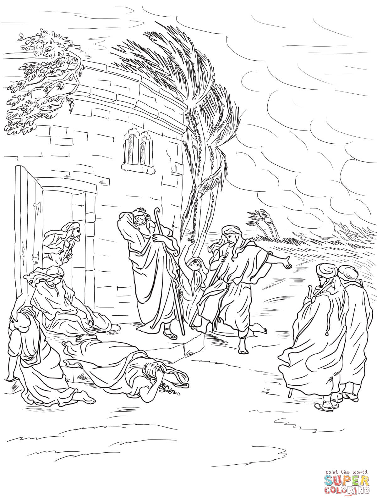 Job Bible Coloring Pages Coloring Pages