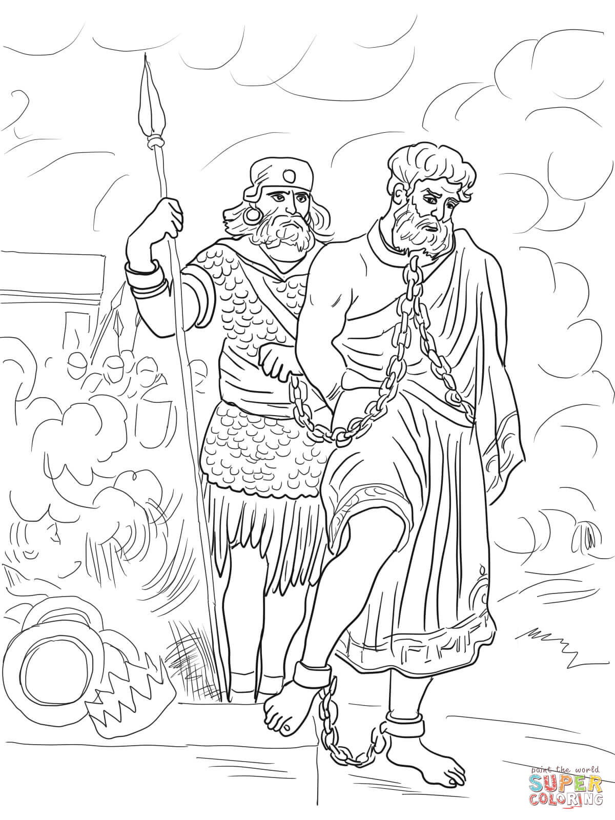 Jeremiah Imprisoned Coloring Page