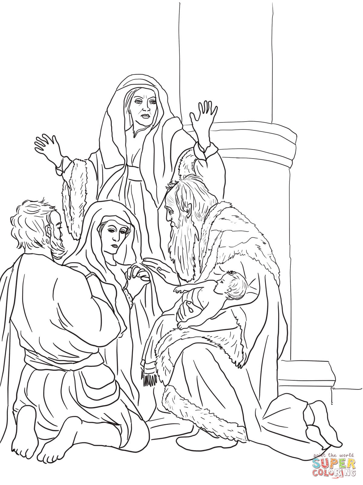 Elisha Helps Widow coloring page | Free Printable Coloring Pages | 1600x1200