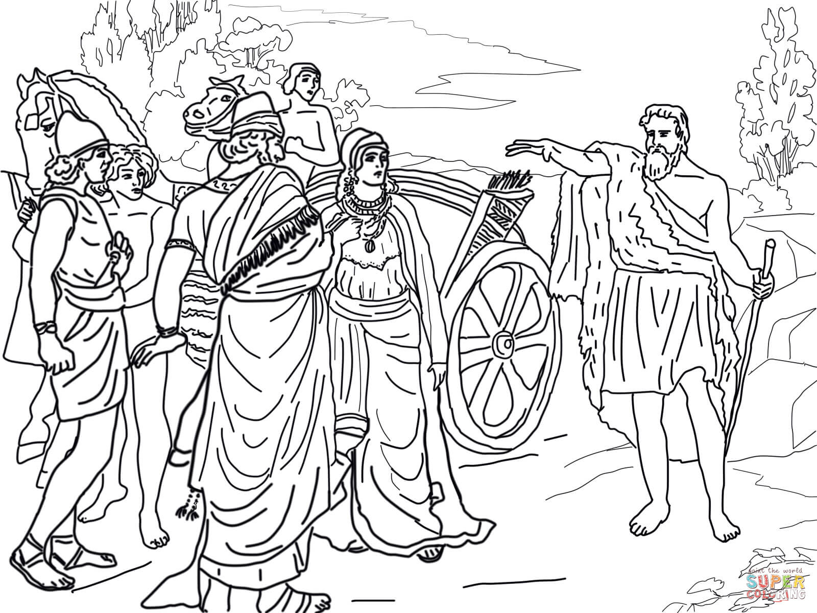 Free Bible Coloring Pages - Bible Story Pages - Printable Sheets | 1200x1600