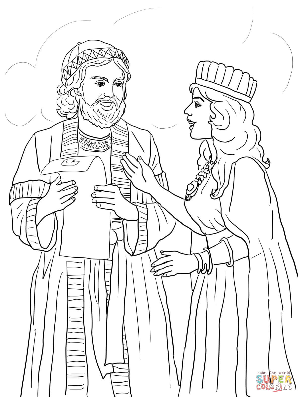 story of esther coloring pages story of esther coloring page