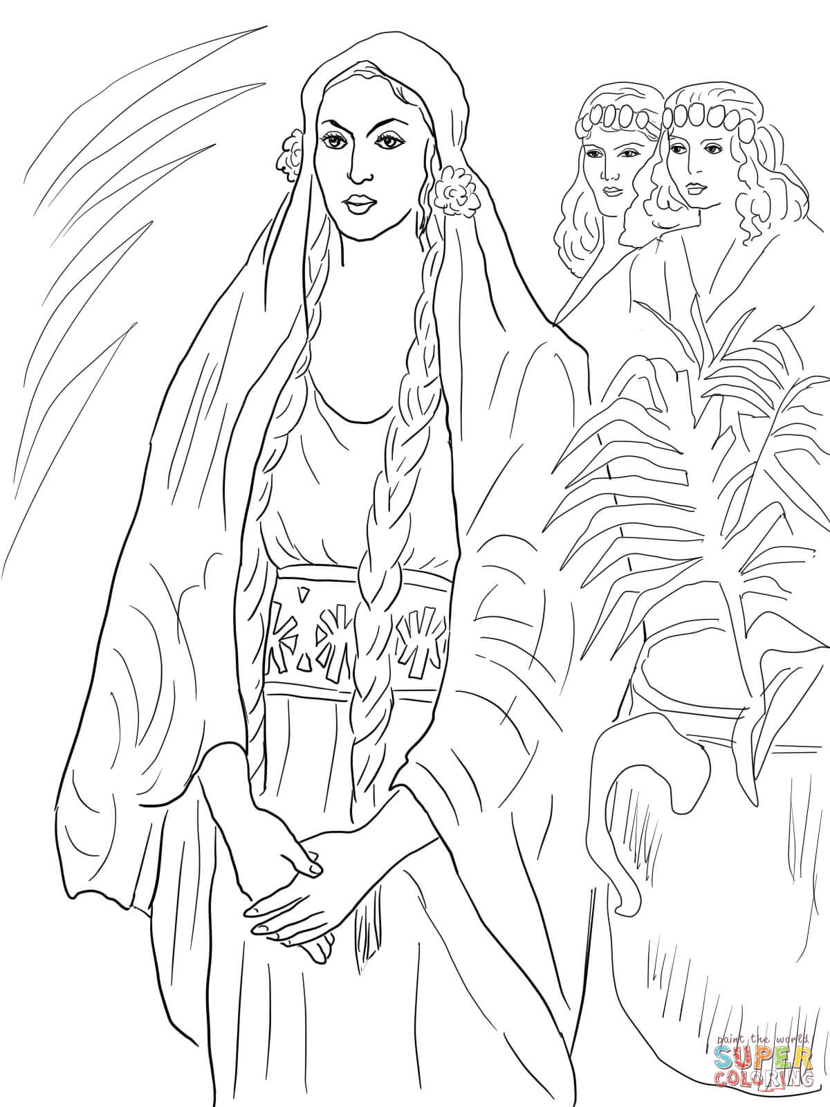 Esther The Queen Coloring Page Free Printable Coloring Pages