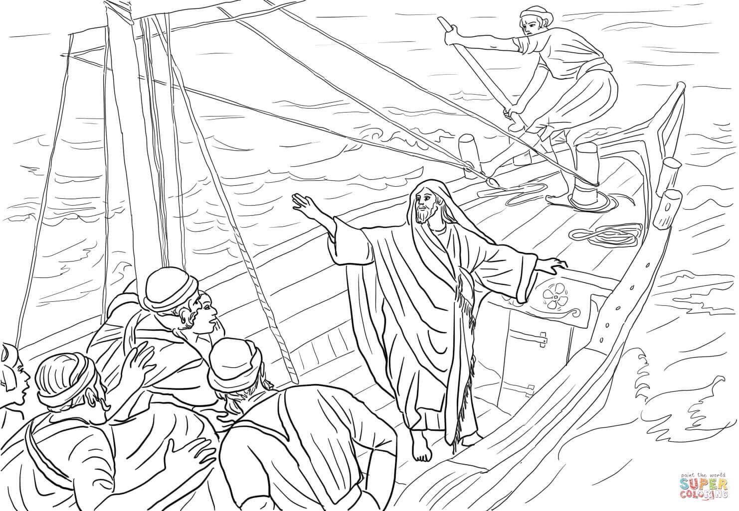 Jesus Calms The Storm Cutout