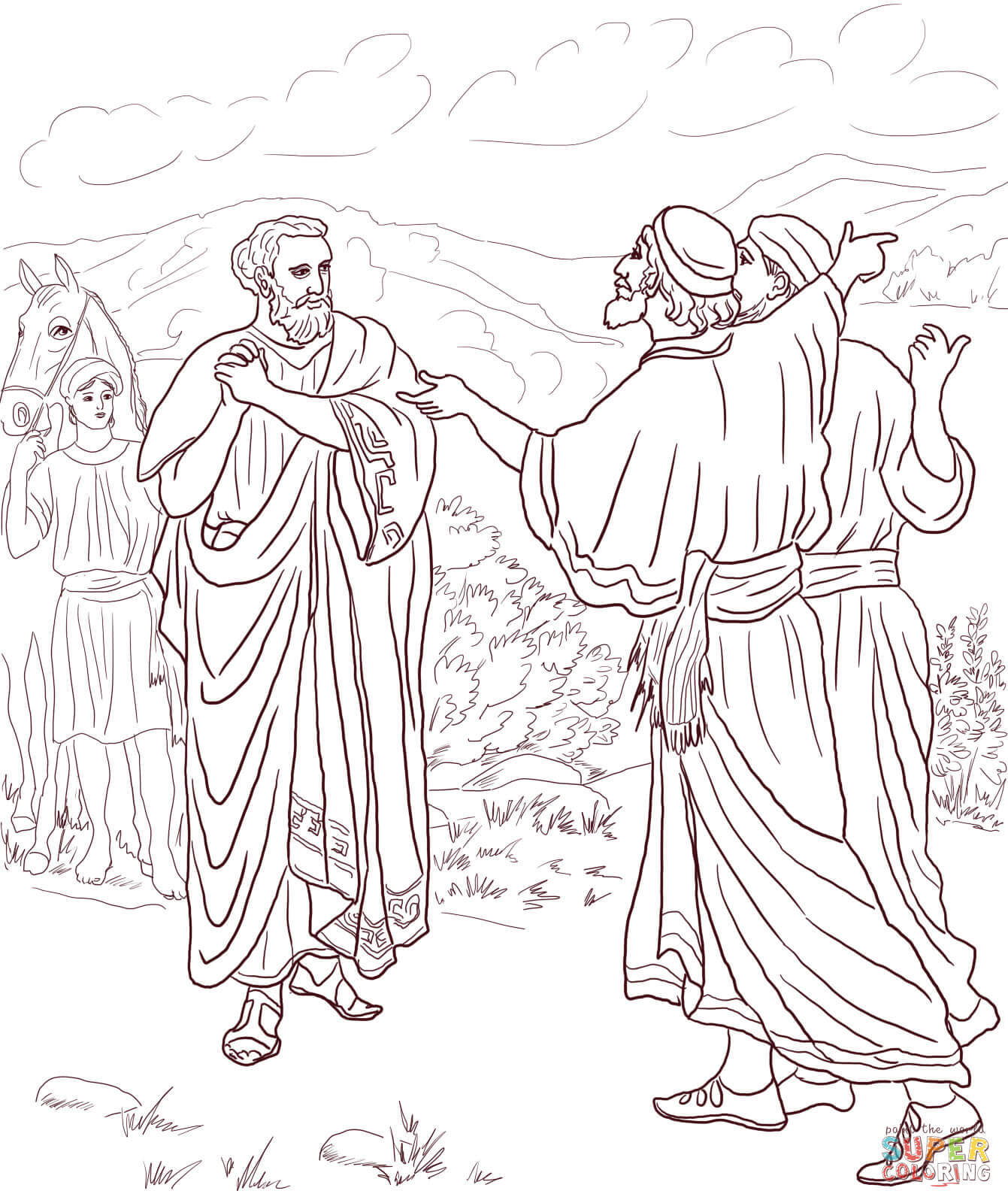 Jesus Healed The Son Of The Nobleman Coloring Page