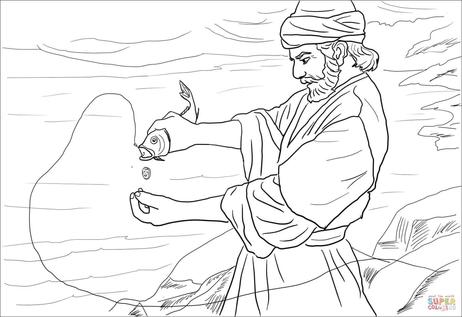 Peter Denies Jesus Coloring