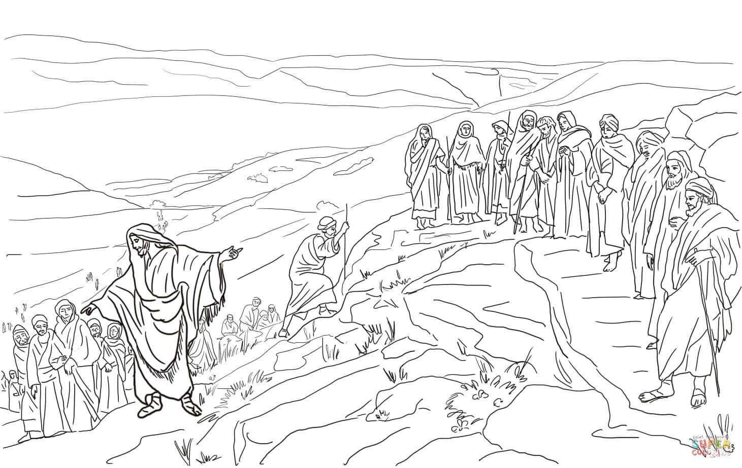 Jesus Chooses Twelve Disciples Coloring Page