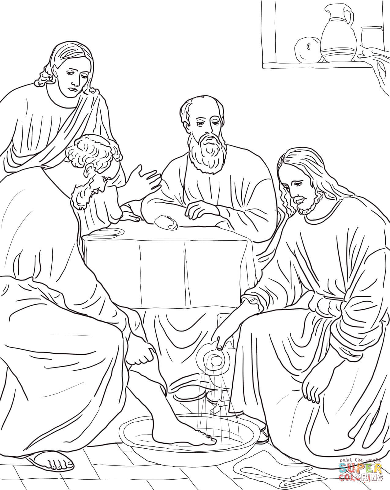 Jesus Coloring Pages. jesus goes up colouring pages. jesus ...