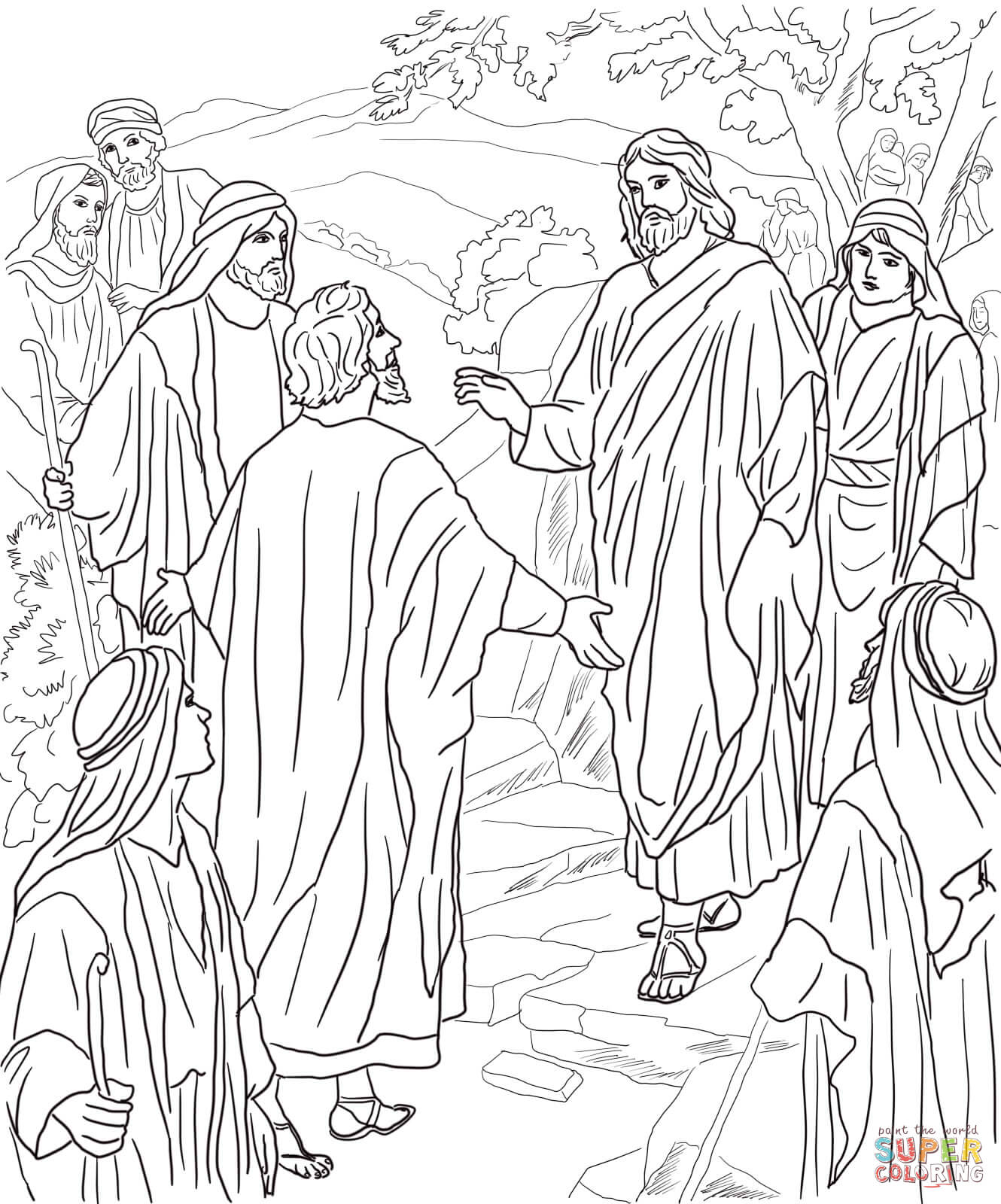 Peter S Confession Of Christ Coloring Page