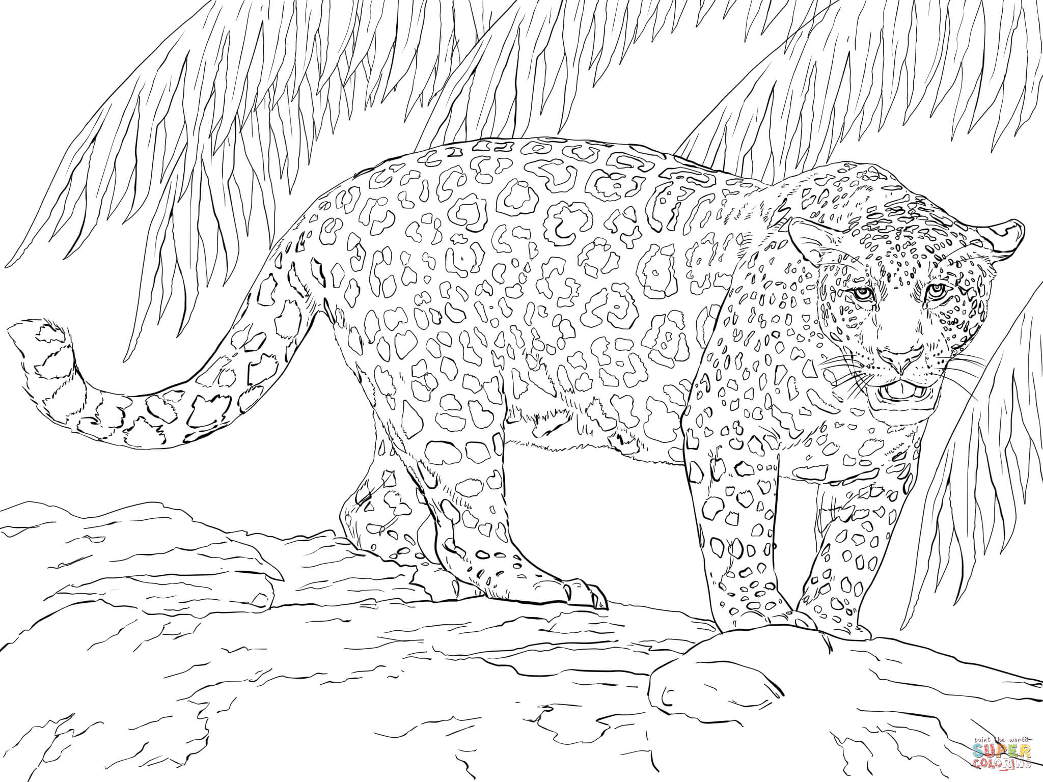 Great Jaguar Coloring Page