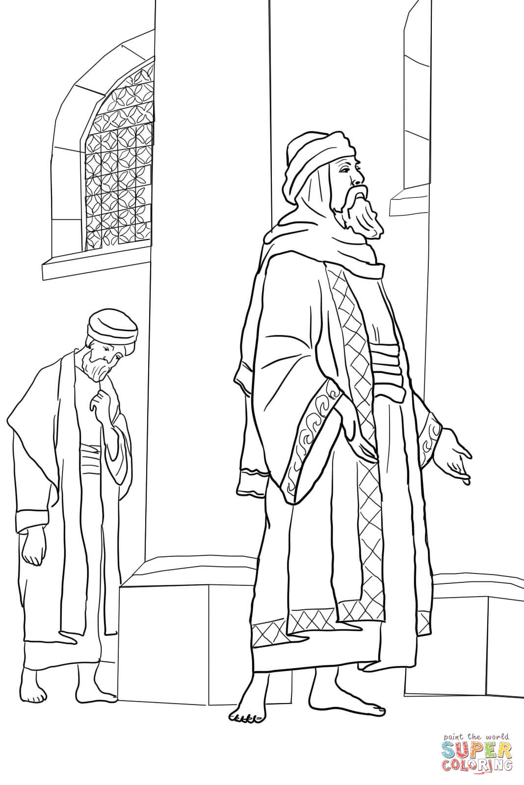 Pharisee And The Publican Coloring Page