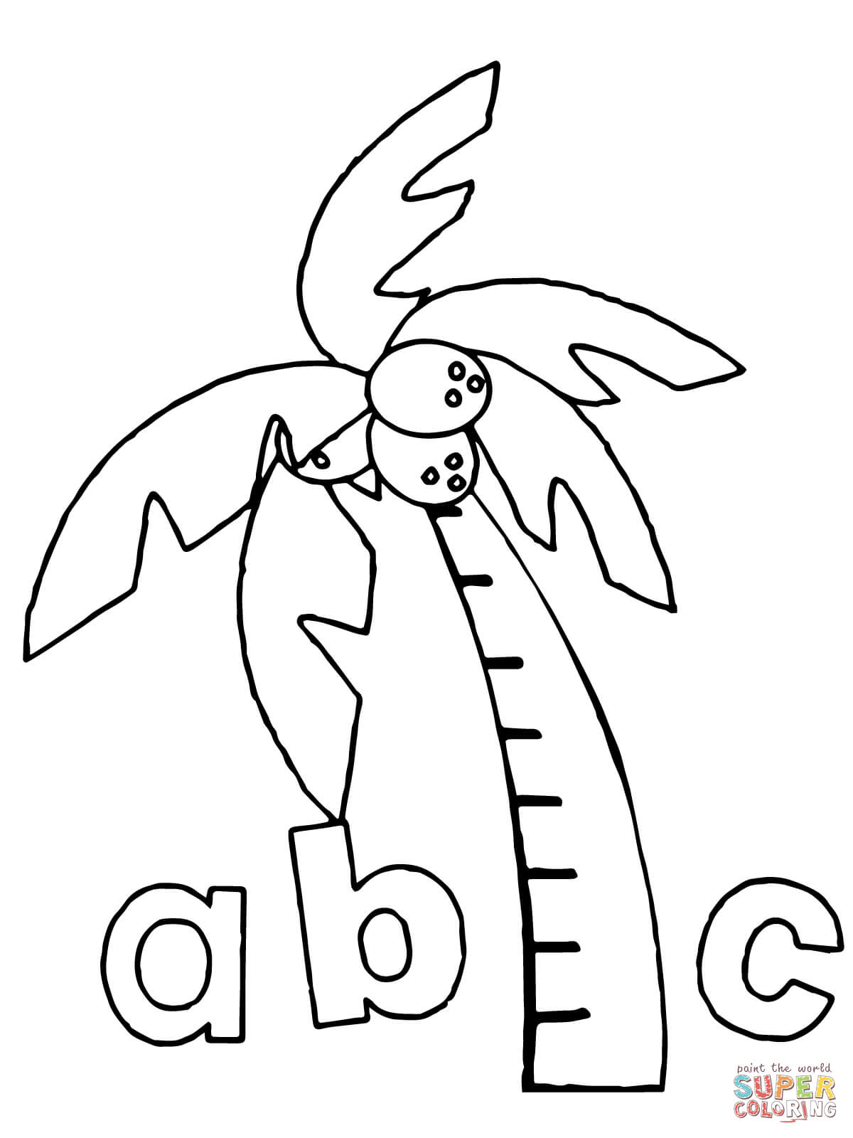 Chicka Chicka Boom Boom Abc Coloring Page