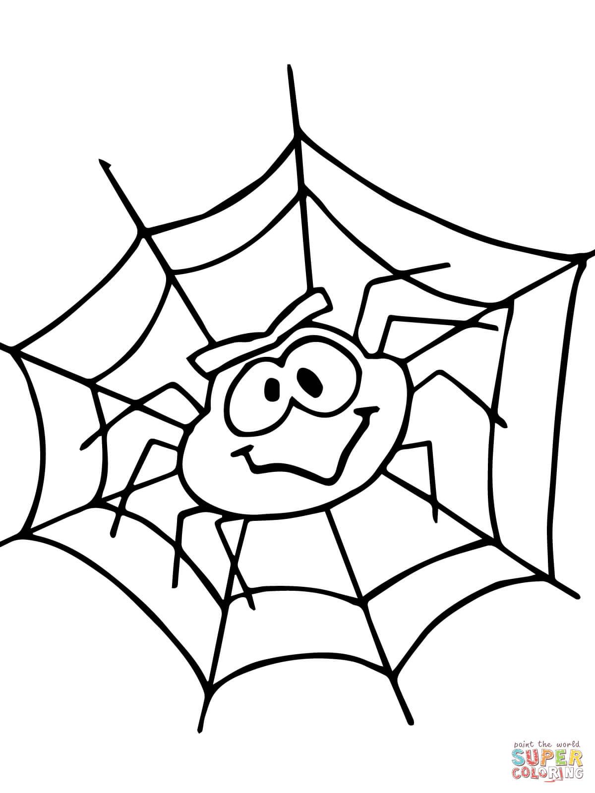 Ausmalbild Eensy Weensy Spider