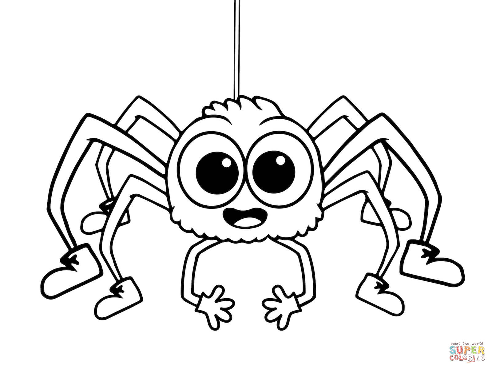 itsy bitsy spider coloring pages free coloring pages