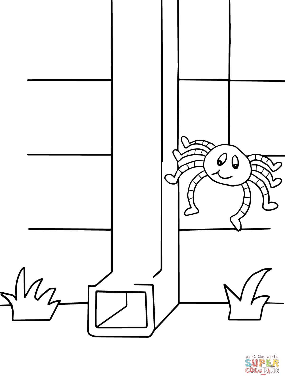 Ausmalbild Itsy Bitsy Spider