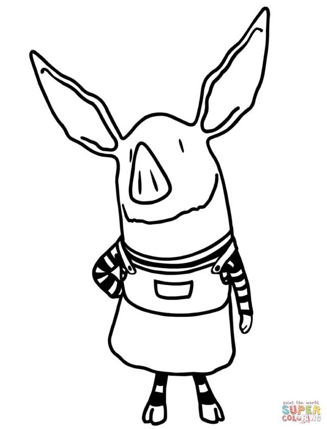 Olivia the Pig coloring page  Free Printable Coloring Pages