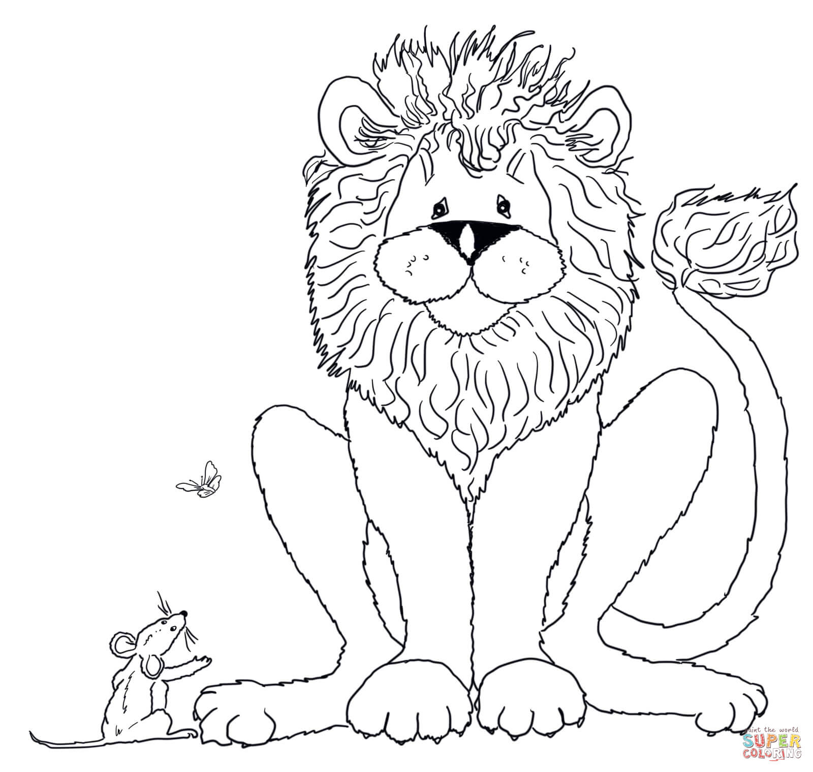 the lion and the mouse coloring pages free coloring pages
