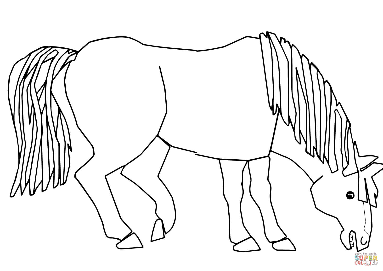 Blue Horse Blue Horse What Do You See Coloring Page
