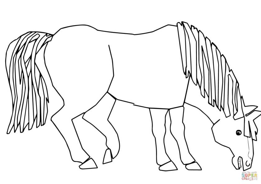 blue horse blue horse what do you see coloring page  free