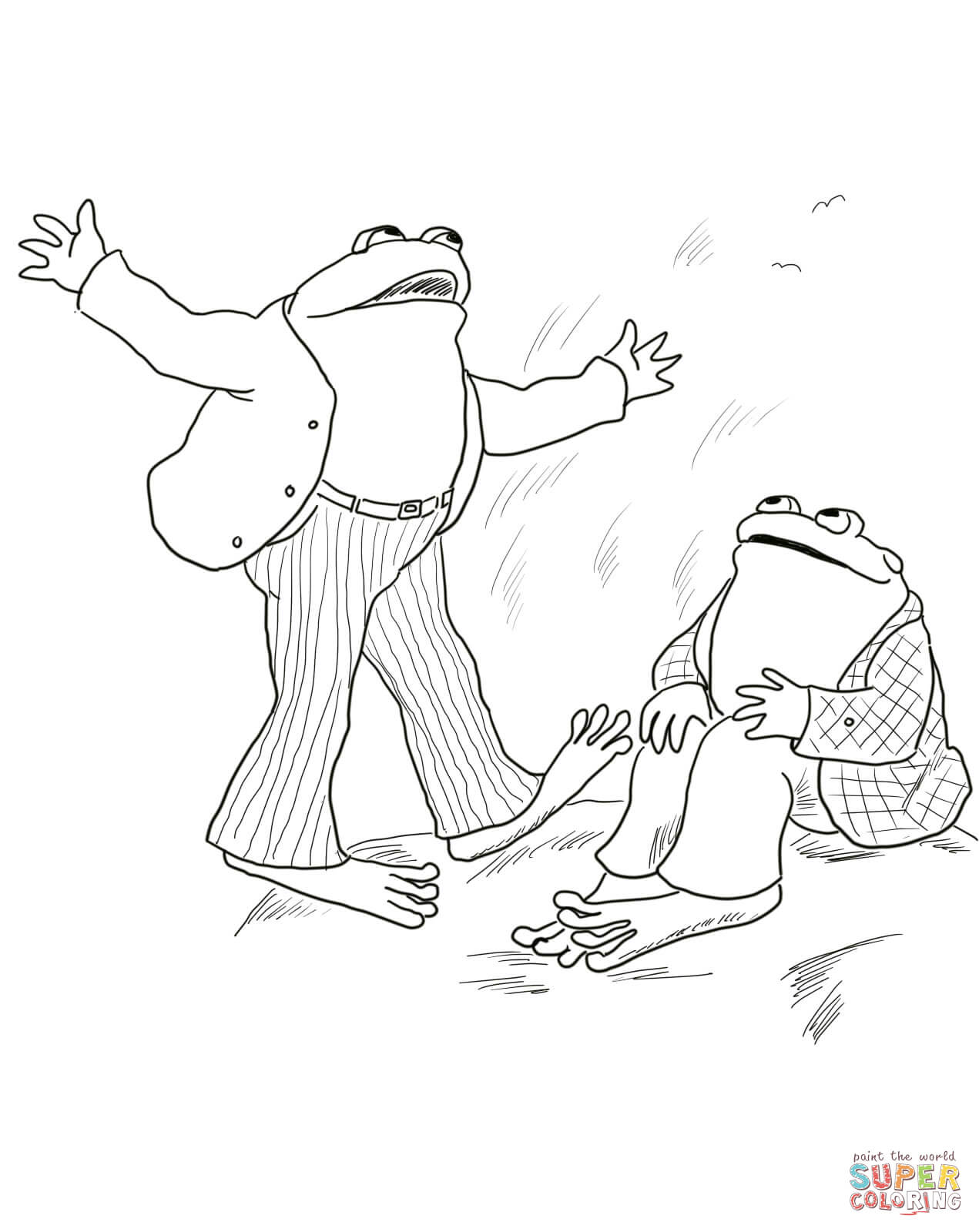Frog And Toad Are Friends Coloring Page
