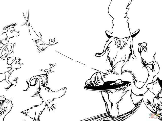 Green eggs and ham coloring pages  Free Coloring Pages