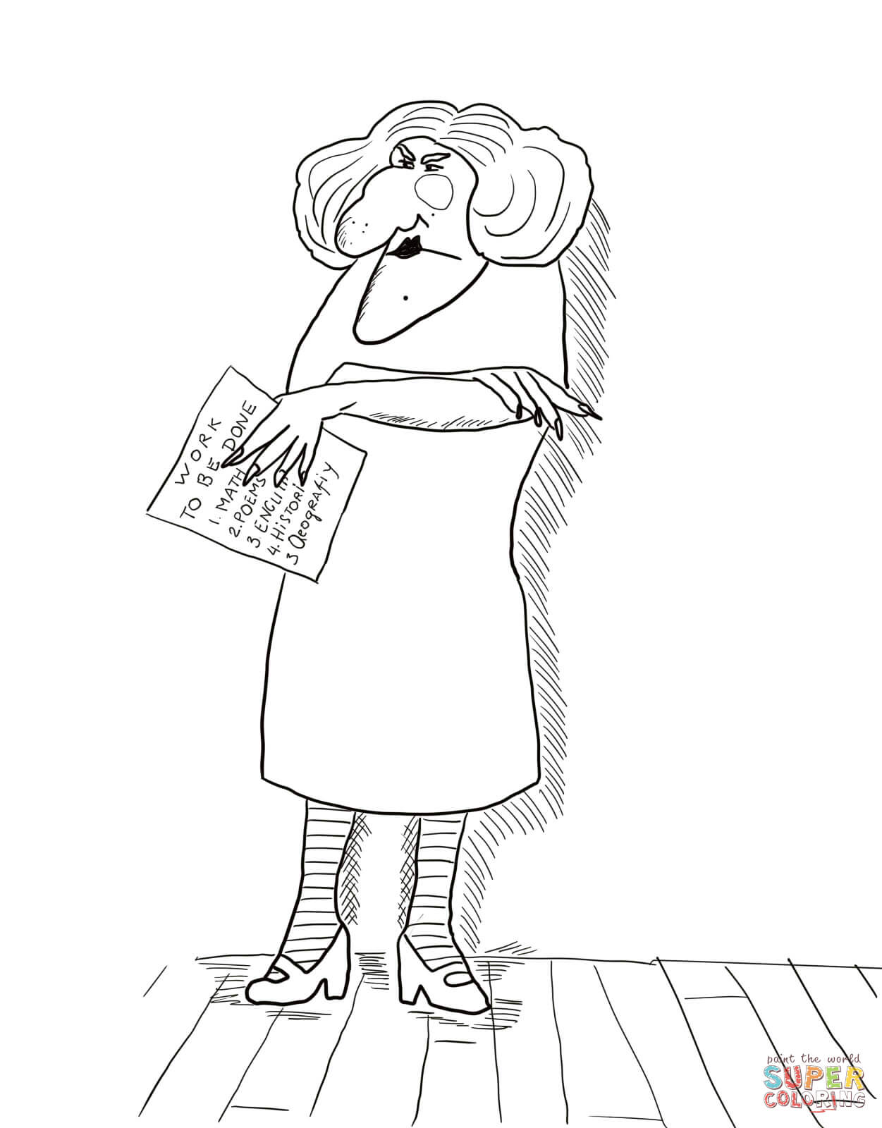 Miss Viola Swamp Coloring Page
