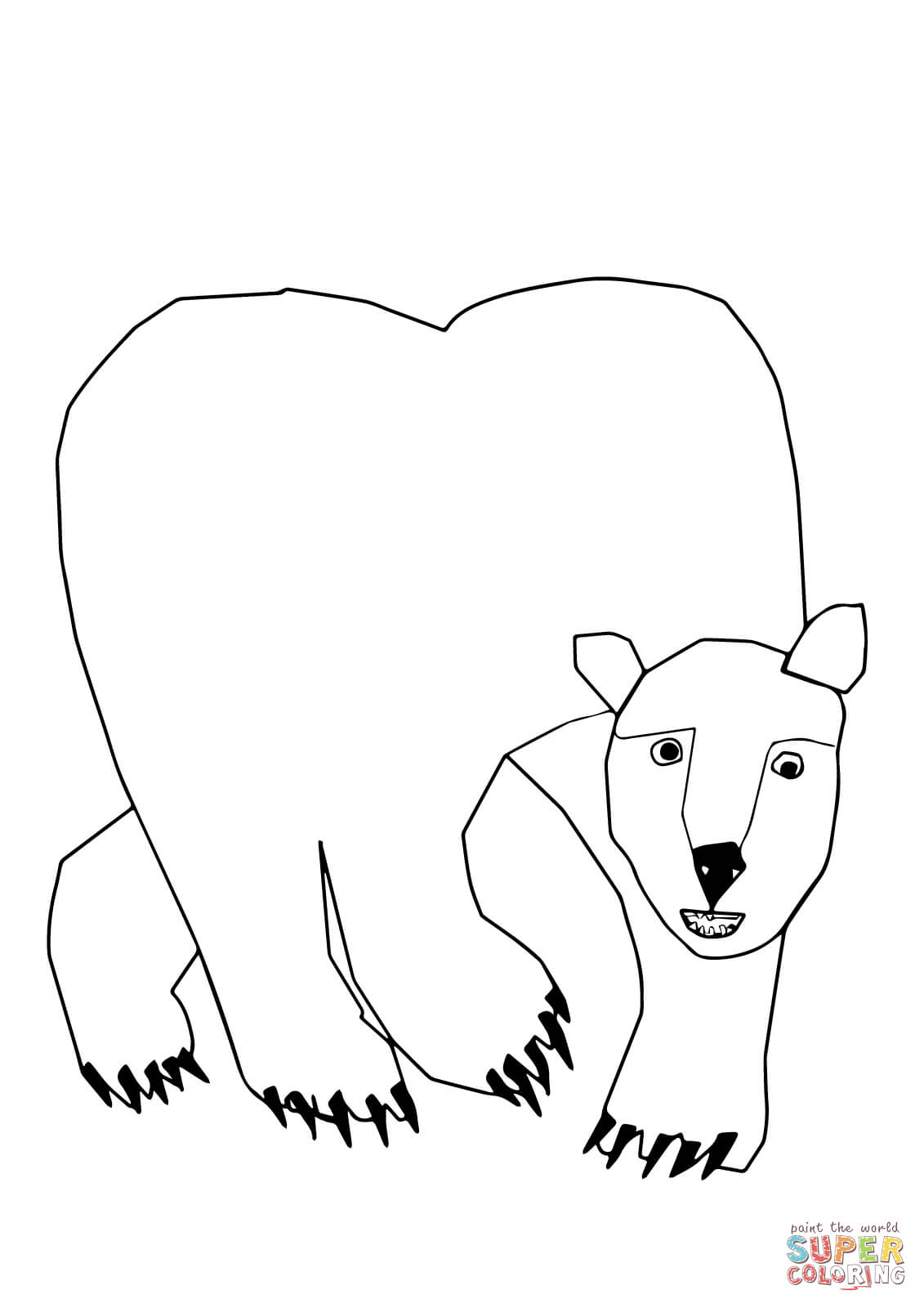 Polar Bear Polar Bear What Do You Hear Coloring Page