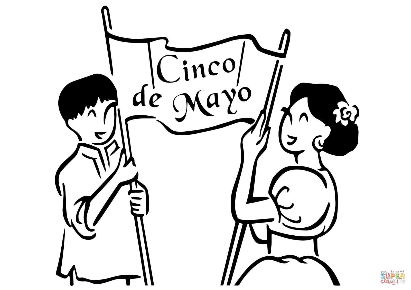 Dibujos Para Colorear Del 5 De Mayo