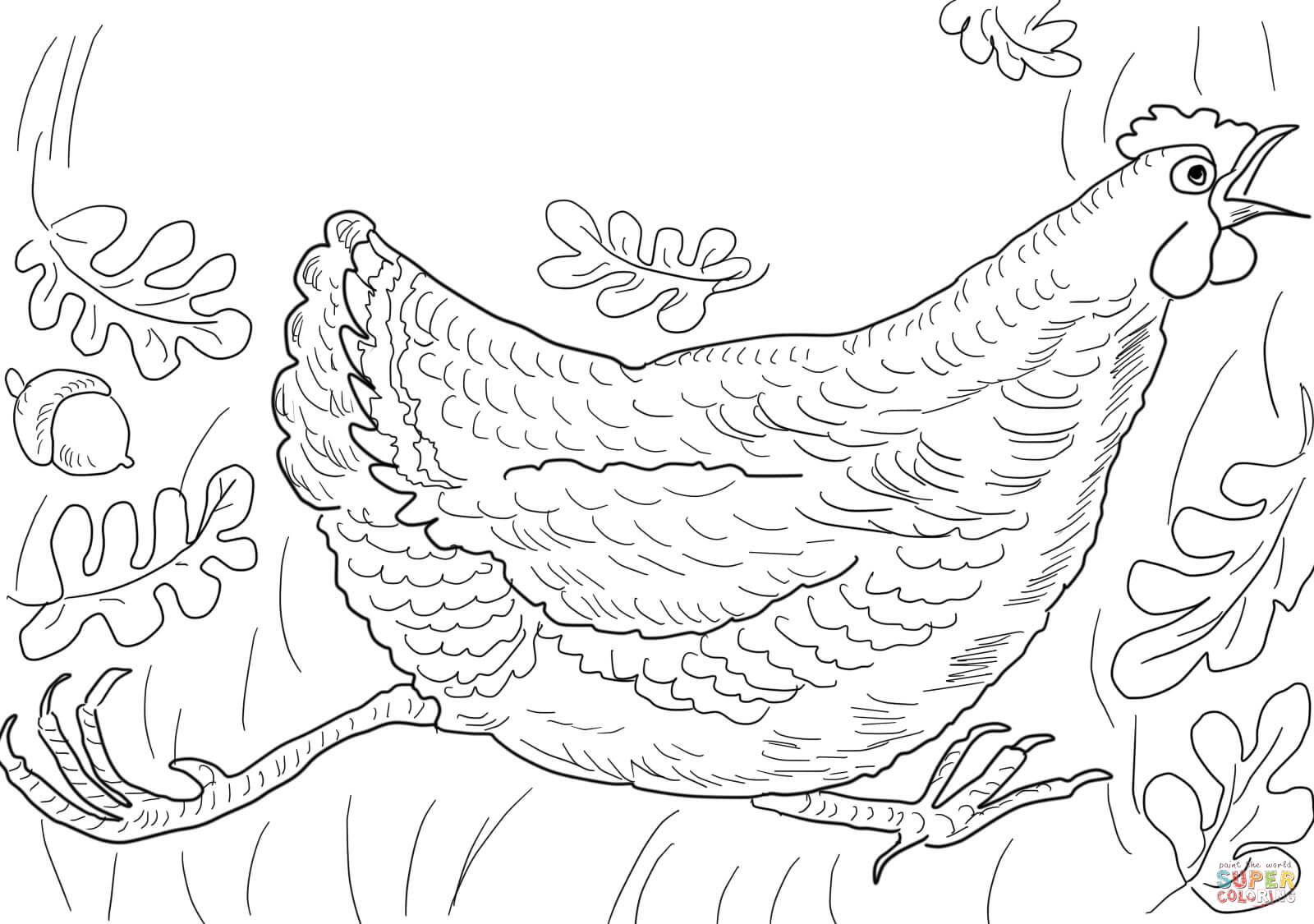 Printable Henny Penny Coloring Character Pages Sketch