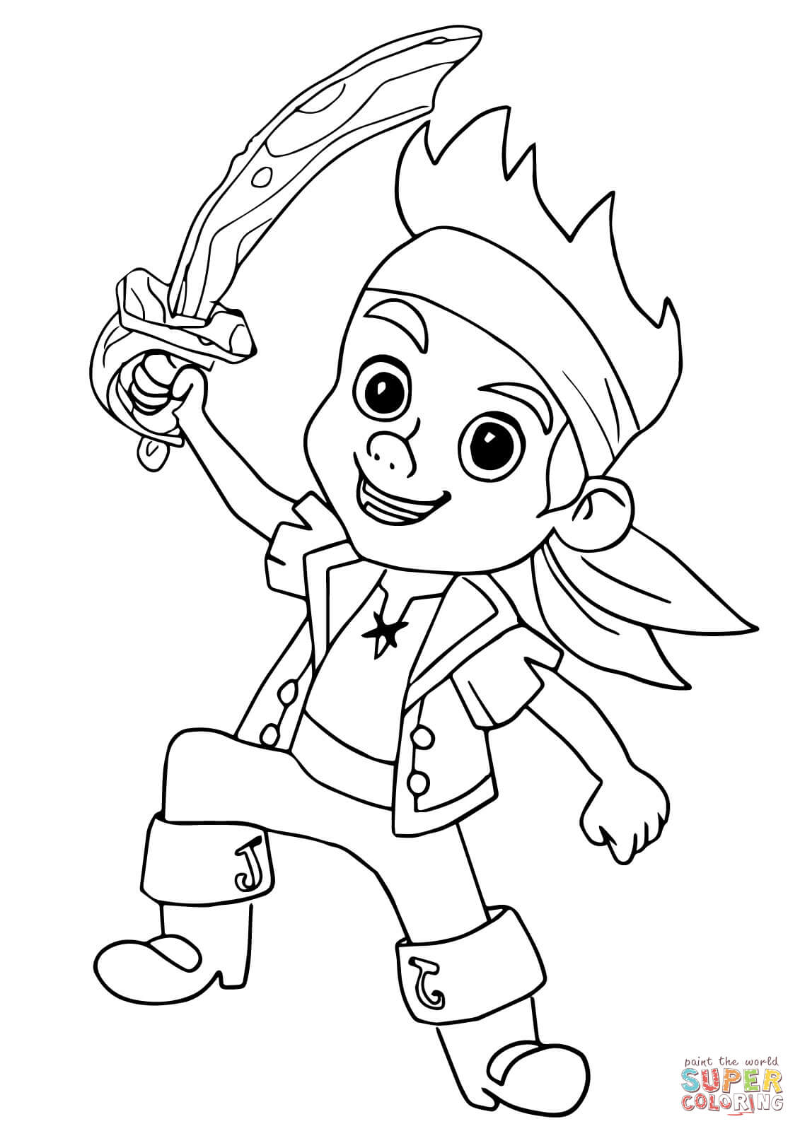 Free Coloring Pages For Captain Jake And The Neverland Pirates ... | 1600x1131