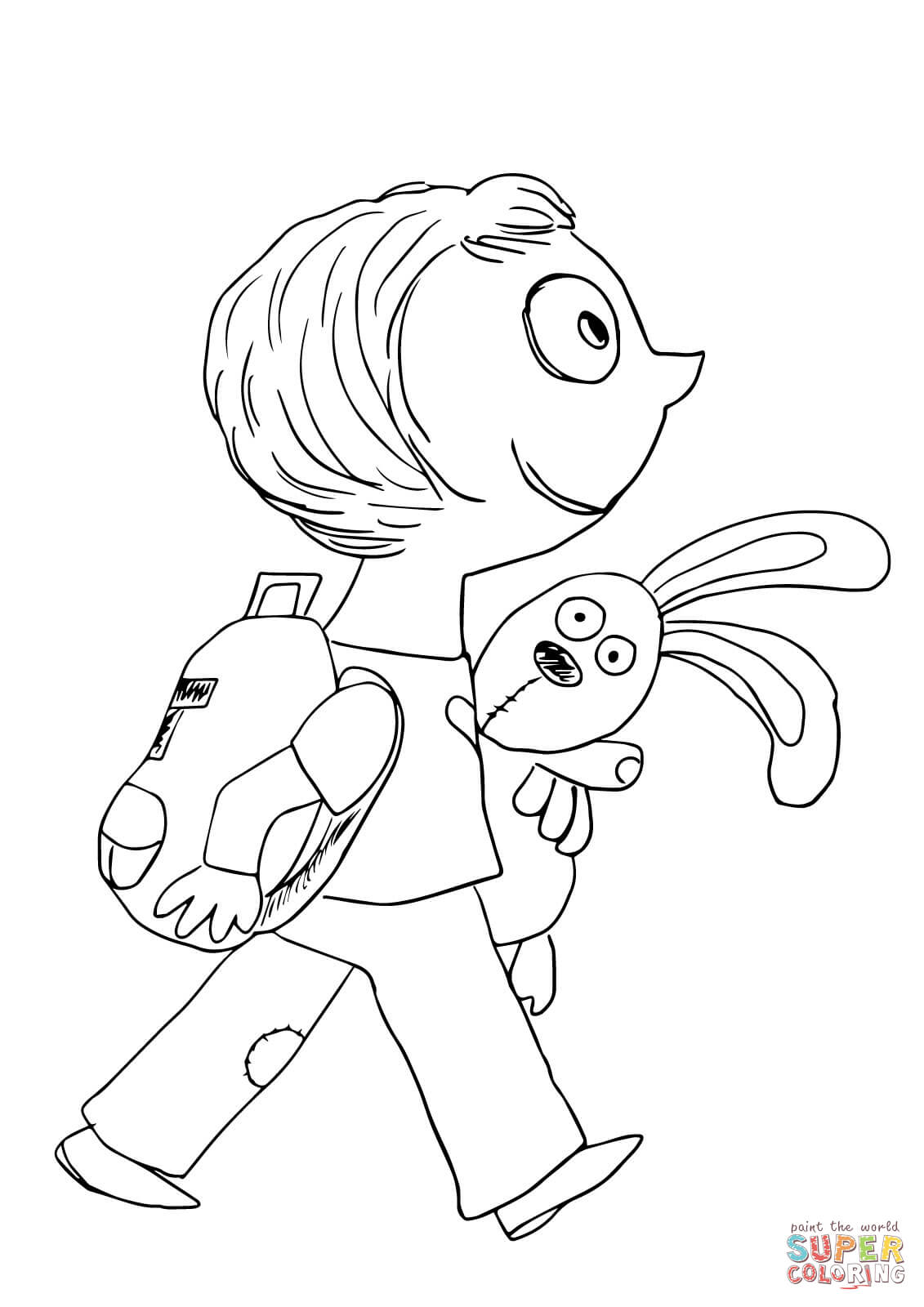Knuffle Coloring Page