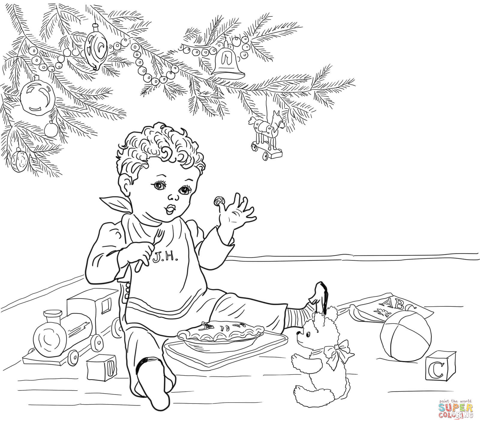 Little Jack Horner Coloring Page