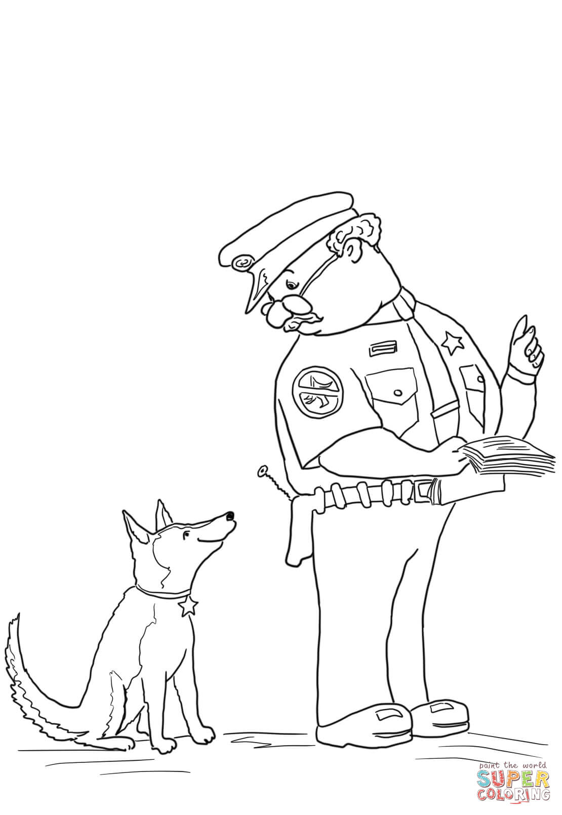 Officer Buckle And Gloria Coloring Page