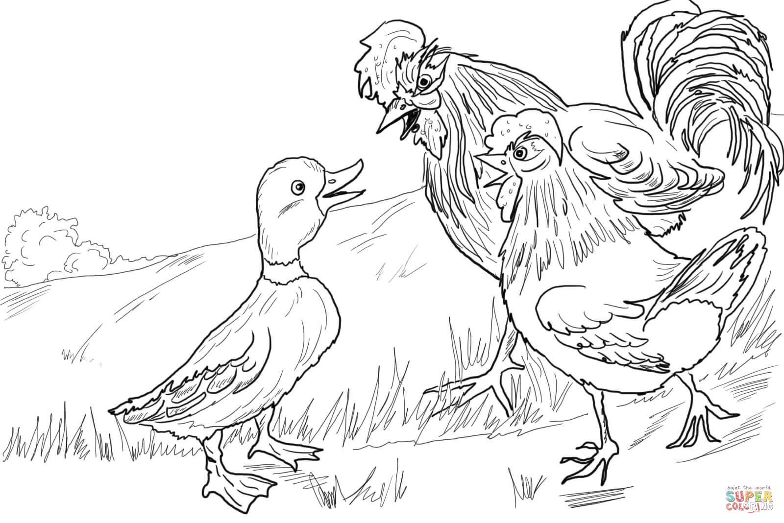 Panic Spreads From Lucky Ducky Coloring Page