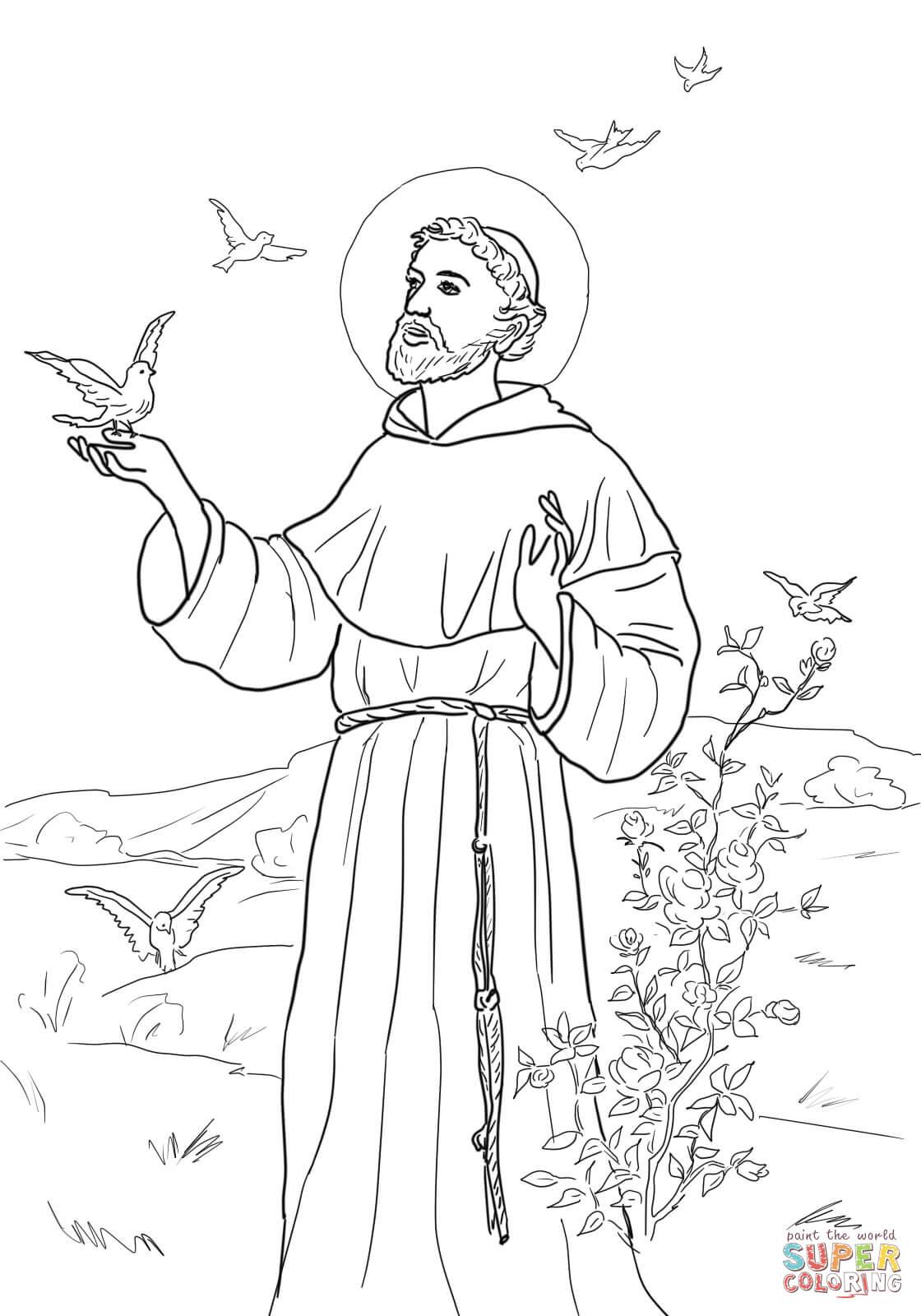 Ausmalbild Friedensgebet Des Hl Franz Von Assisi